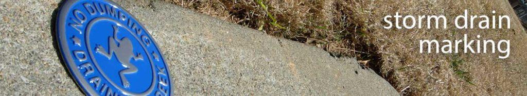 Neighborhood Storm Drain Marking Program Marker